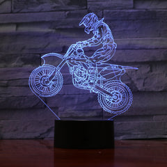 Motobike - 3D Optical Illusion LED Lamp Hologram