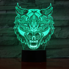 Tiger - 3D Optical Illusion LED Lamp Hologram