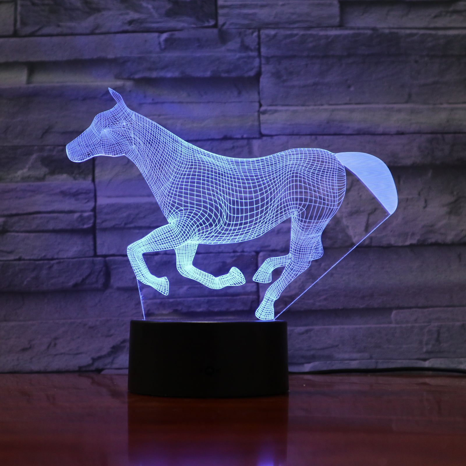 7 Colors Changing Animal LED Night light runing Horse 3D Desk Table Lamp USB Luces Navidad Lampara Baby Kid Birthday Gift 750
