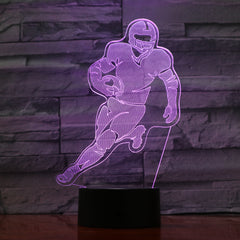 American football 1 - 3D Optical Illusion LED Lamp Hologram