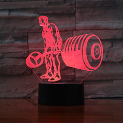 Weightlifter - 3D Optical Illusion LED Lamp Hologram