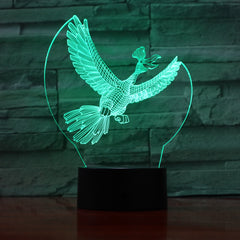 Bird 1 - 3D Optical Illusion LED Lamp Hologram