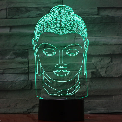 Face 2 - 3D Optical Illusion LED Lamp Hologram