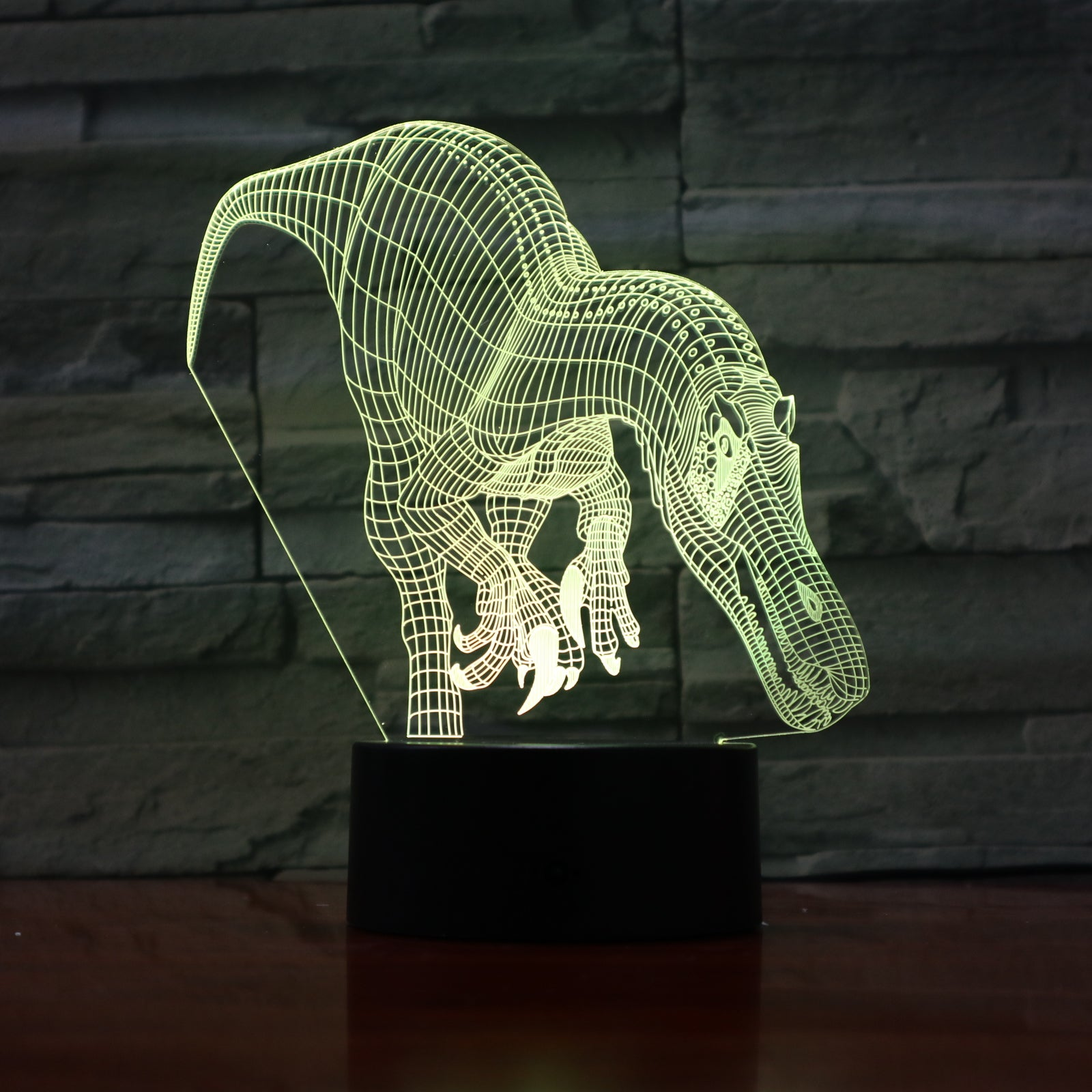 Troodon 2 - 3D Optical Illusion LED Lamp Hologram