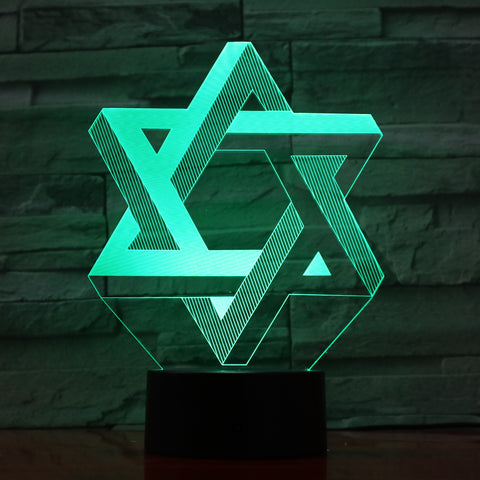 David star - 3D Optical Illusion LED Lamp Hologram