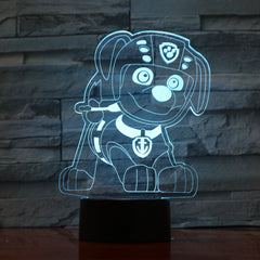 Dog 6 - 3D Optical Illusion LED Lamp Hologram