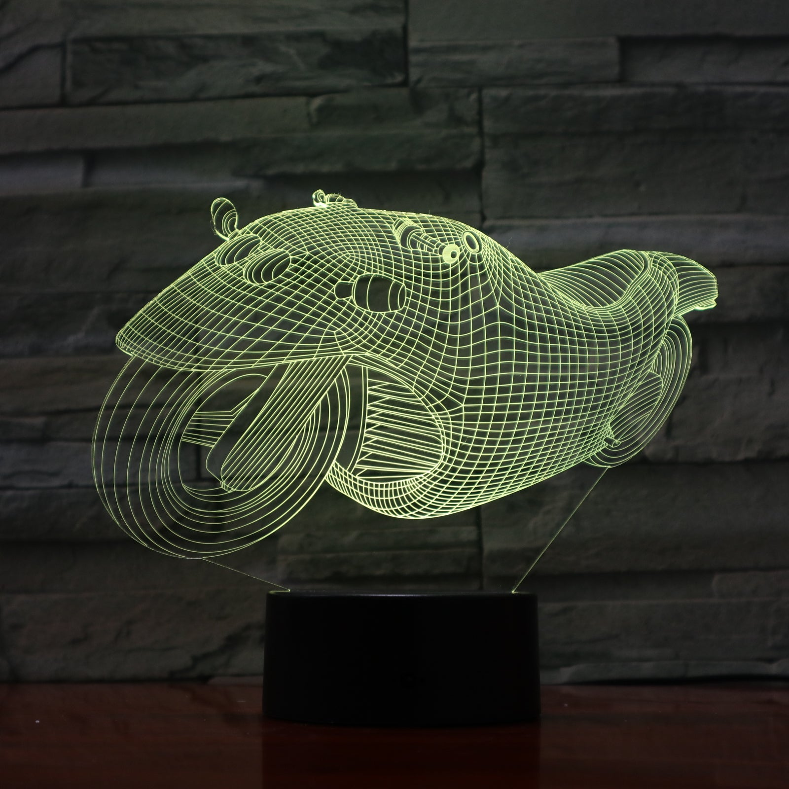 Motobike 1 - 3D Optical Illusion LED Lamp Hologram