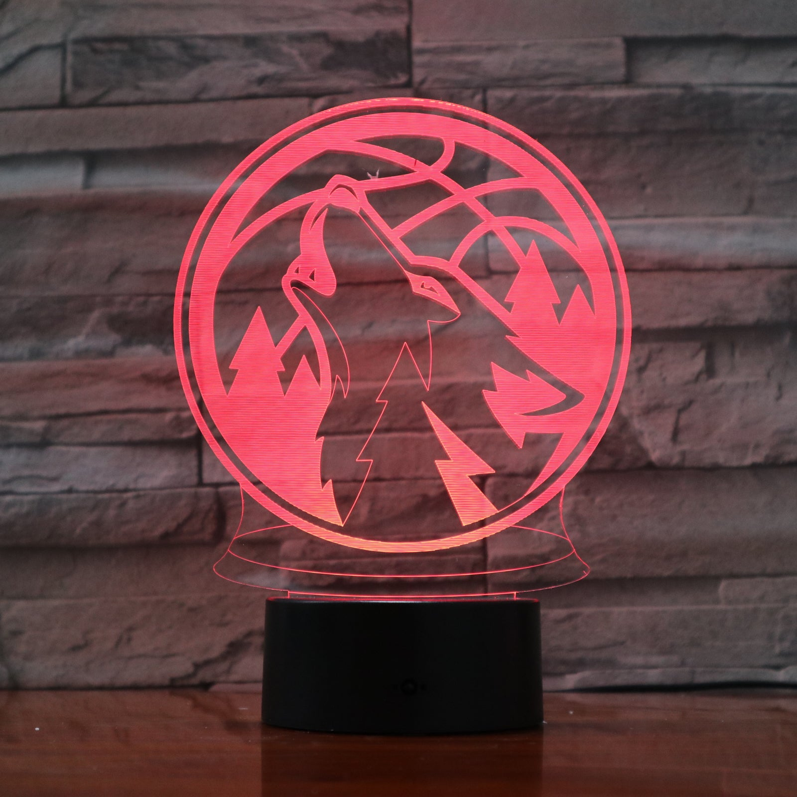 3D Night Lamp Wolf Animal Bedroom Office Home Decor 7 Colorful USB Atmosphere vision Desk Table Lamp Child Christmas Gift 983