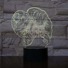 3D Animal Night Light LED Nightlight Dog Table Lamp Decoration Children Birthday New Year Christmas Friend Gift 1898