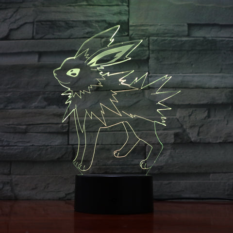 Spiny Bunny - 3D Optical Illusion LED Lamp Hologram