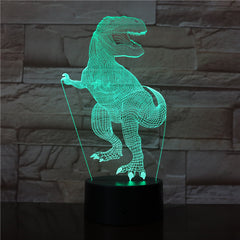 Dinosaur 3D Light 7 Color Led Night Lamps For Kids Touch Led Usb Table Lampara Lamp Baby Sleeping light Office Light AW-2772