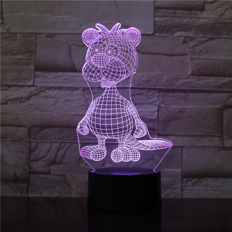 Cute Dog Lamp 3D Night Light Kid Toy LED 3D Touch Table Lamp 7 Colors Flashing LED Light Christmas Decorations for Home 1947