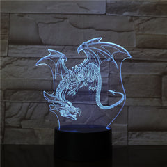 Dinosaur Model 3d Led Light 7 Color Change Bulb Decoration Kids Gift Night Light Sleeping Lava Lamp Party Decor Light AW-2796