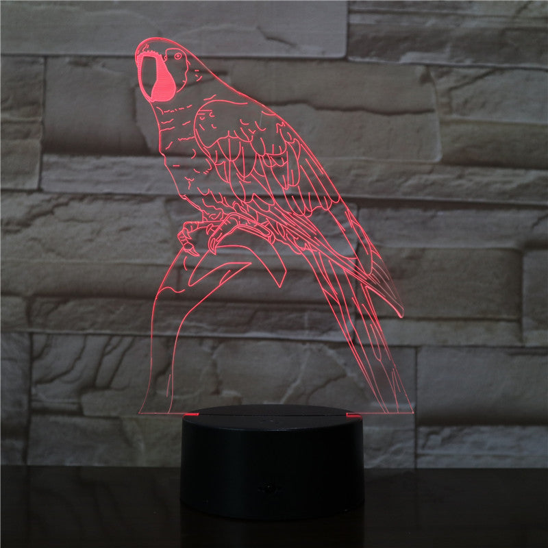 3D Night Lamp Bird branches Decor Atmosphere Night Light Desk Table 7 Color Change Lava Lampara RGB Kid Toys Holiday Gift 2811