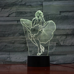 Woman - 3D Optical Illusion LED Lamp Hologram