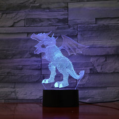 Dragon 1 - 3D Optical Illusion LED Lamp Hologram