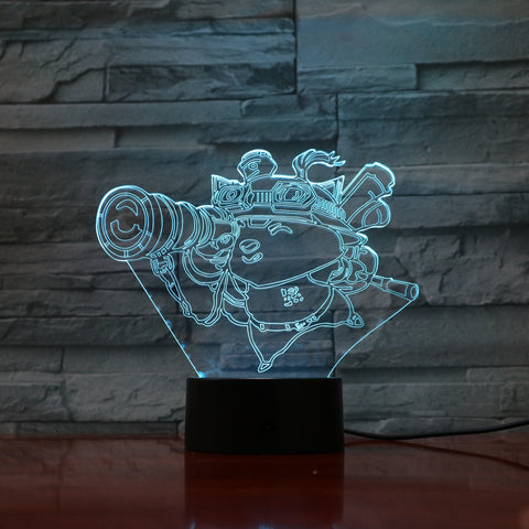 Timo - 3D Optical Illusion LED Lamp Hologram