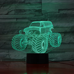 Jeep - 3D Optical Illusion LED Lamp Hologram