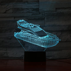 Boat - 3D Optical Illusion LED Lamp Hologram