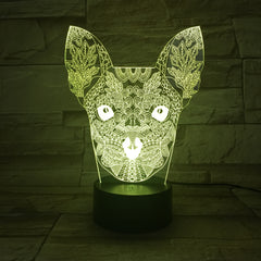 New Style Dog Colorful 3D Visual Touch Desk Table Light LED Acrylic Lamp Creative led night light Home Decor Holida AW-669
