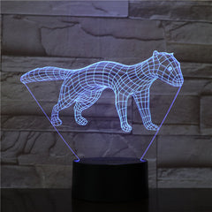 New Dog 3D LED Night Light 7 Color Flashing Touch Usb Illusion Mood Lamp USB Sleep Table Lighting Kids Birthday Gifts 1563