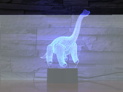 Barosaurus - 3D Optical Illusion LED Lamp Hologram