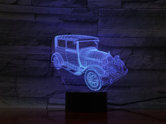 Old Car - 3D Optical Illusion LED Lamp Hologram