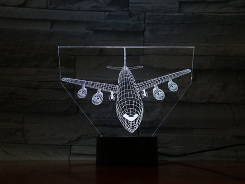 Plane 1 - 3D Optical Illusion LED Lamp Hologram