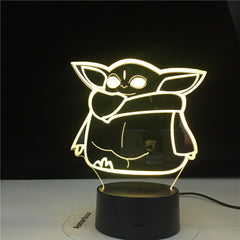 3d Led Night Light Star Wars Baby Yoda Figure for Kids Bedroom Decoration Child Gift Dropshipping Battery Powered Desk Lamp Meme