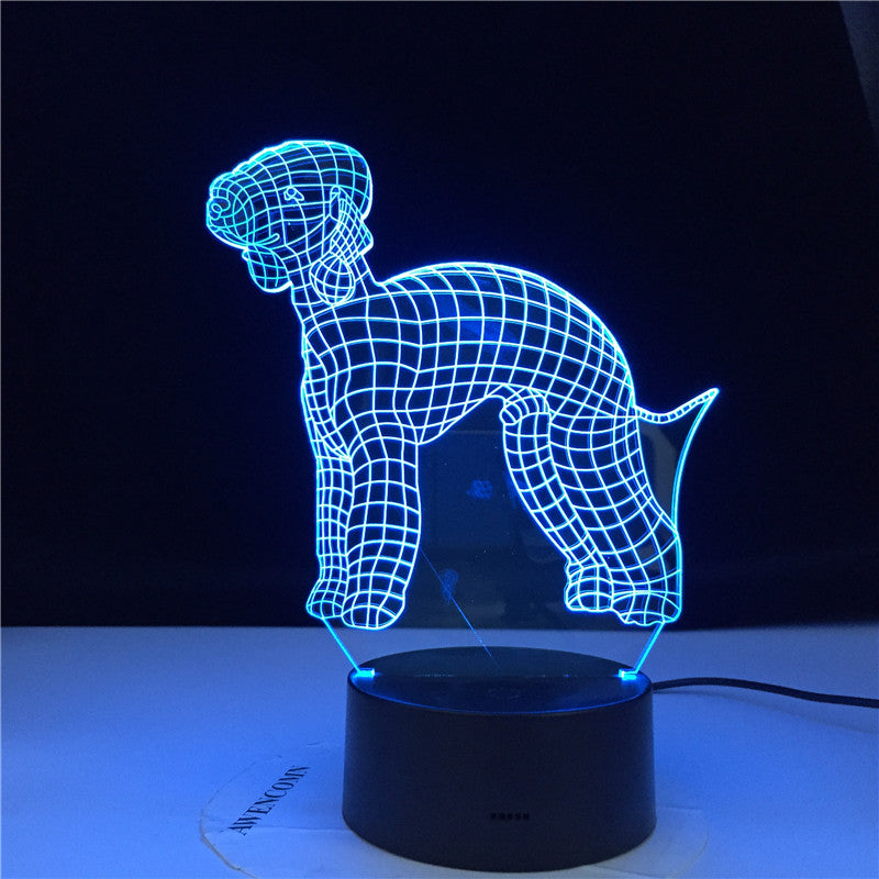 3D Bull Terrier Shape Designed LED Visual Lamp Pet Dog Puppy 3D Optical illusion Lamp Home Decor LED Night Light Table Lamp