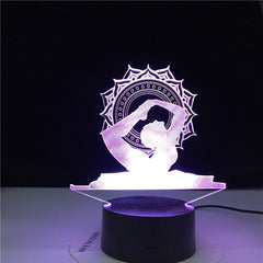 Modelling USB Yoga Table Lamp 3D LED Lampara Dancer NightLights 7 Colors Acrylic Bedside Sleep Lighting Home Decor Kids Gifts
