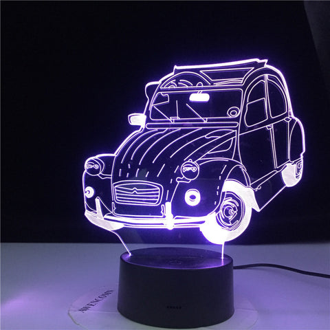 Vintage Car Cool Classic Car 3d Lamp 3d Illusion Led Night Light for Home Decoration Child Bedroom Adults Office Decor Light