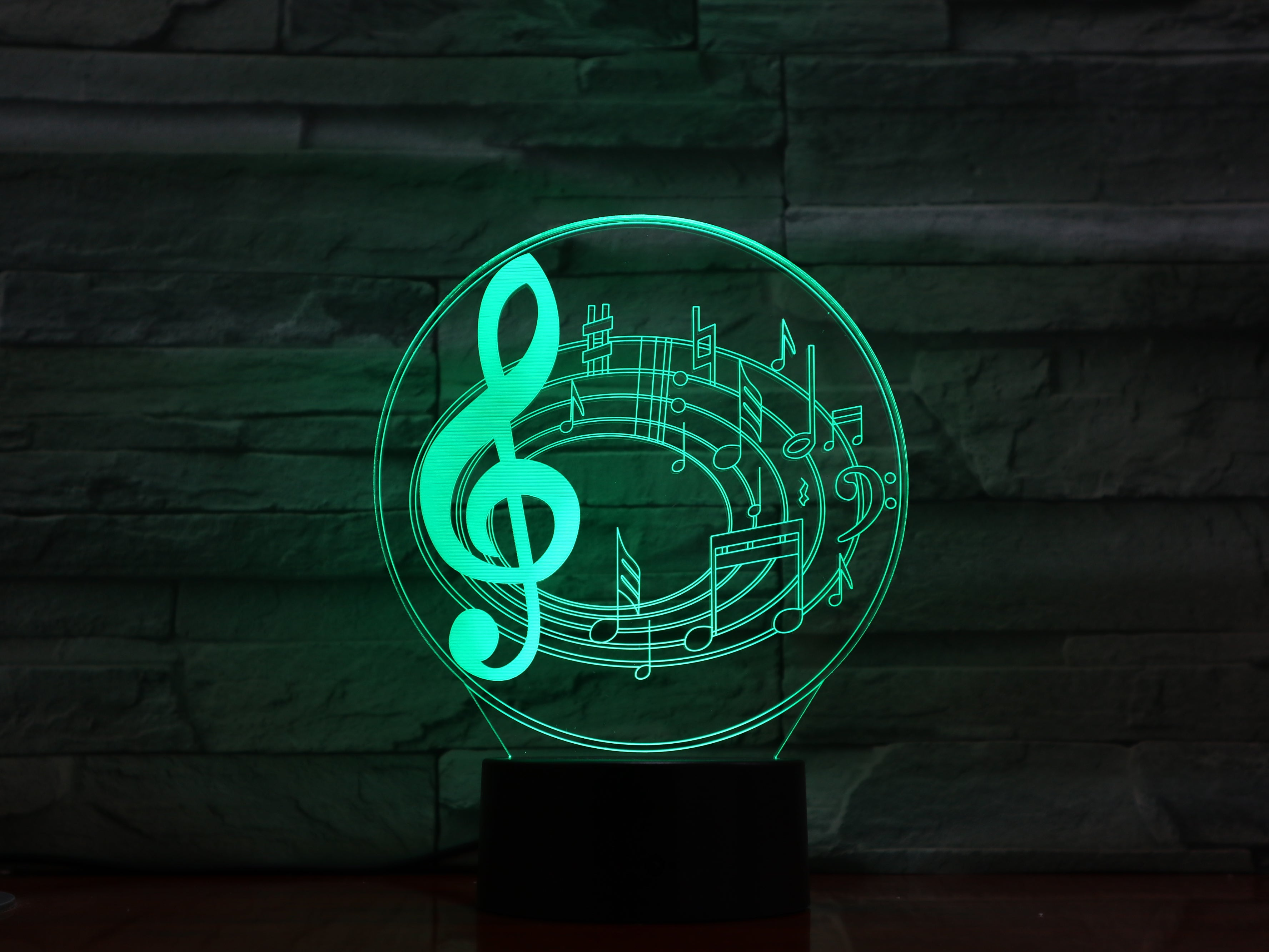 Music - 3D Optical Illusion LED Lamp Hologram