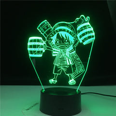 Roronoa Zoro Figure Anime ONE PIECE 3d Lamp Kids Nightlight for Child Bedroom Decorative Light Usb Desk Led Night Light Gift