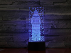 Big Ben - 3D Optical Illusion LED Lamp Hologram