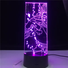 Hisoka Anime Hunter X Hunter Lamp Gift Acrylic 3d Night Light Led Color Changing Nightlight for Kids Bedroom Decoration Light