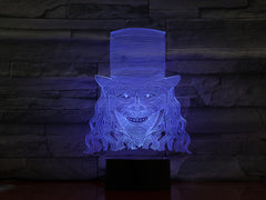 A Man in Hat - 3D Optical Illusion LED Lamp Hologram