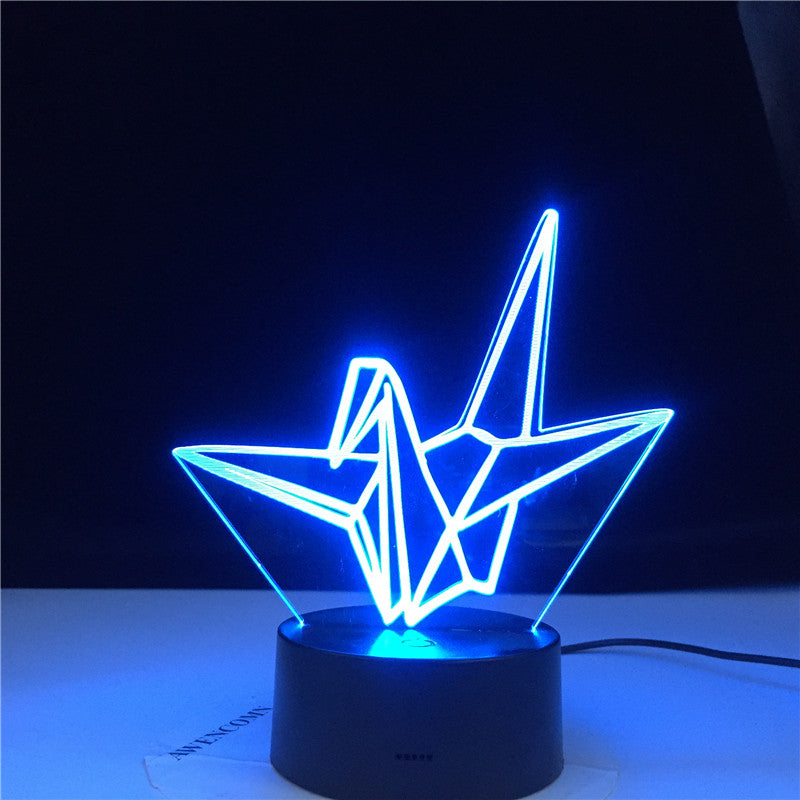 Paper Crane Gift Kids Night Lamp Touch Sensor Colorful Battery Powered Nightlight for Home Decoration Led Night Light
