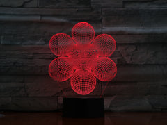 Abstract 3 - 3D Optical Illusion LED Lamp Hologram