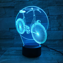 Bicycle - 3D Optical Illusion LED Lamp Hologram