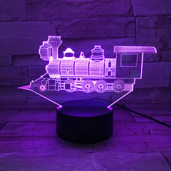Train - 3D Optical Illusion LED Lamp Hologram