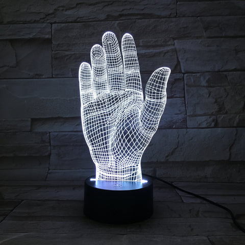 Hand - 3D Optical Illusion LED Lamp Hologram