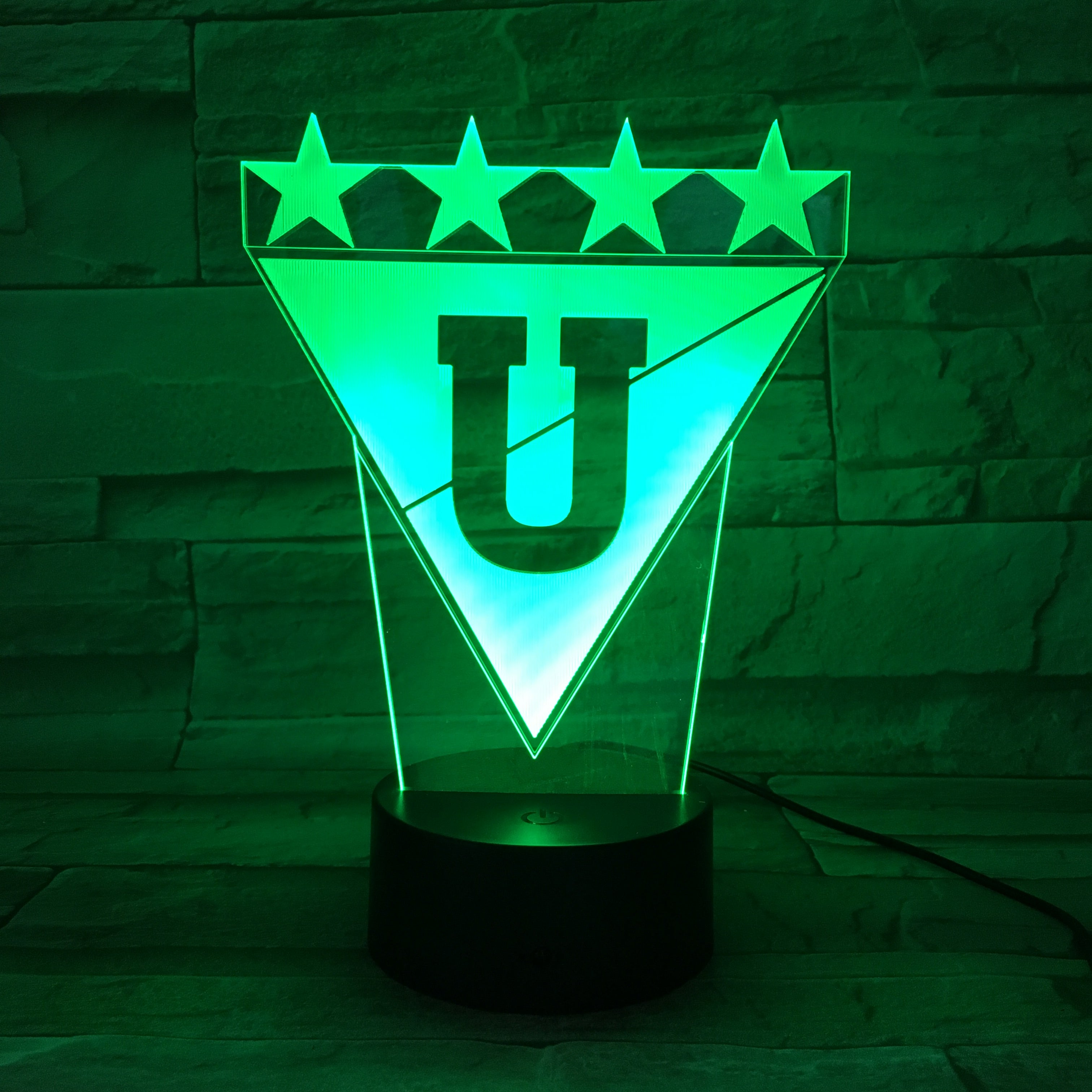 L.D.U. Quito - 3D Optical Illusion LED Lamp Hologram