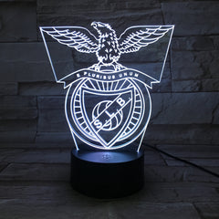 Benfica- 3D Optical Illusion LED Lamp Hologram