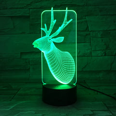 Deer 3D Lamp USB LED Lamp Home Decor Romantic Home Gift 7 Colors Gradient Change Fairy Light Desk Table Lights For Party AW-690
