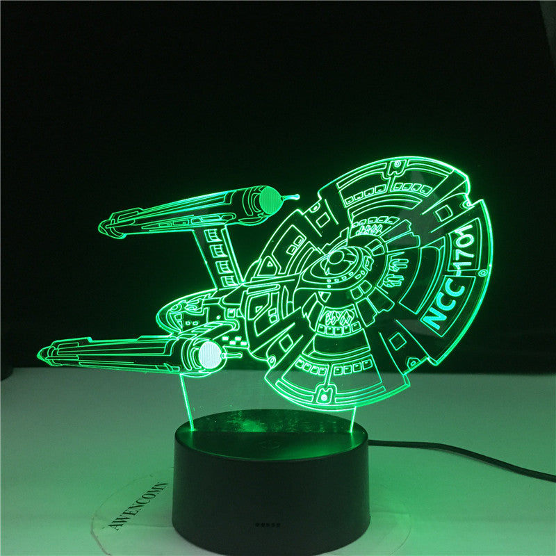 Star Wars Starship NCC 1701 3d LED Night Light for Child Bedroom Decor Color Changing Best Birthday Gift for Kids Night Lamp