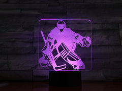 Hockey Player 1 - 3D Optical Illusion LED Lamp Hologram
