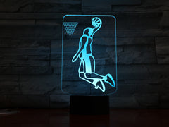 Basketball Player - 3D Optical Illusion LED Lamp Hologram