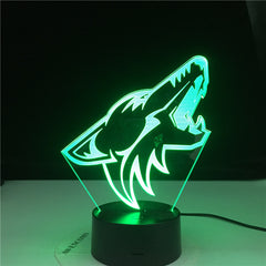10th Anniversary Deal Animal Wolf Head 3D LED Nightlights Colorful Wolf Design Table Lamp Illusion Lights Bedroom Modern Decor