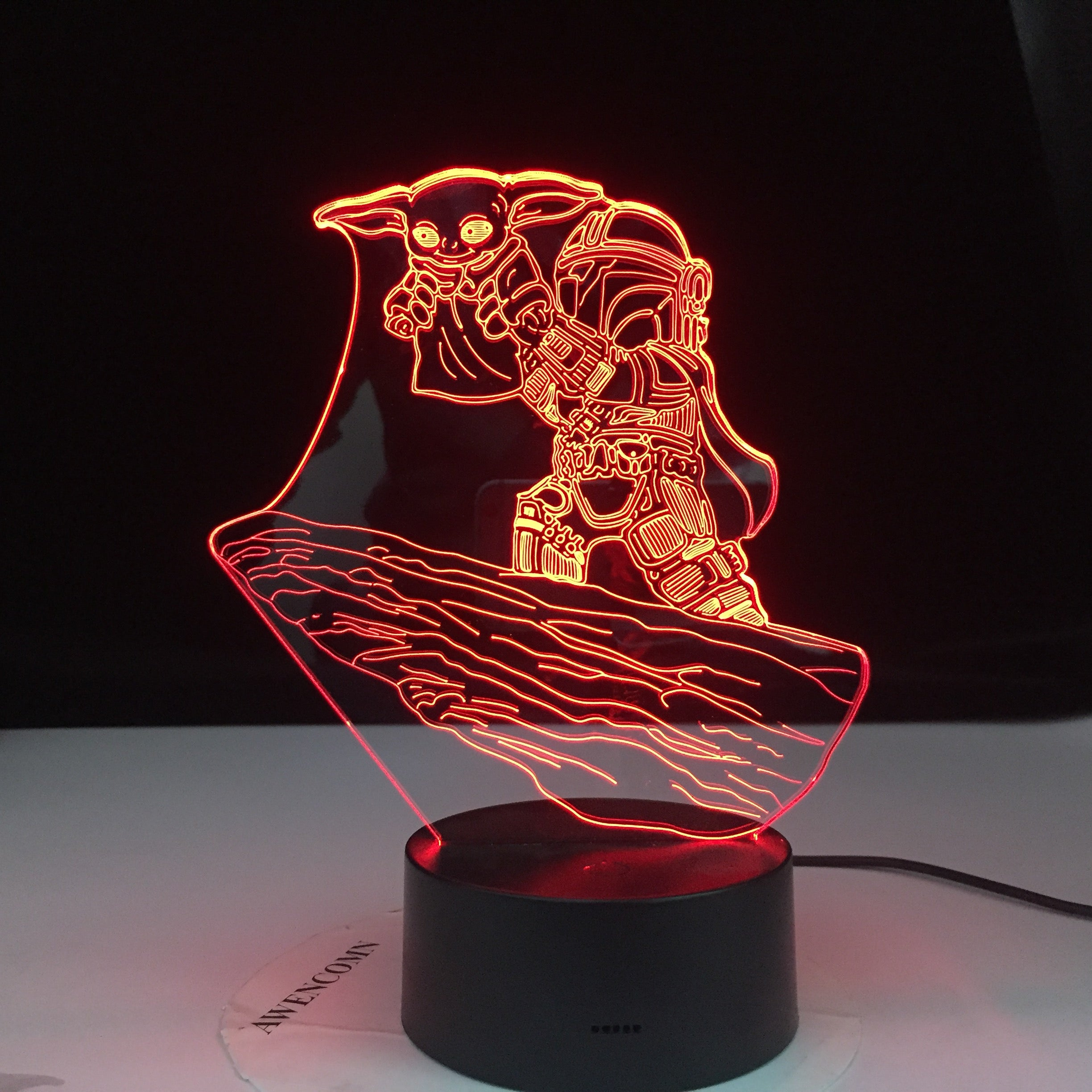 Star Wars Yoda Figure Desk Lamp for Kids Bedroom Decor Table Lamp Children Projection Light 3d Led Night Light Dropshipping